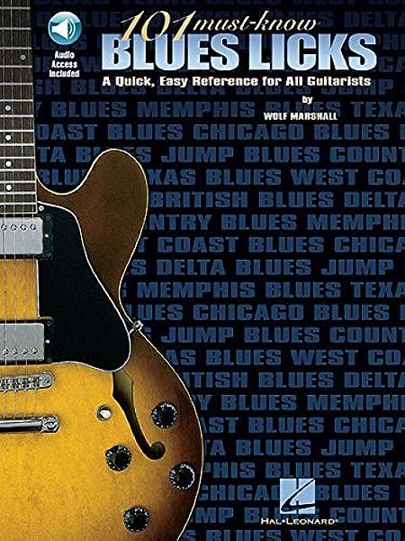 101 Must Know Blues Licks Tab (Tab Book): Amazon.es: Marshall ...