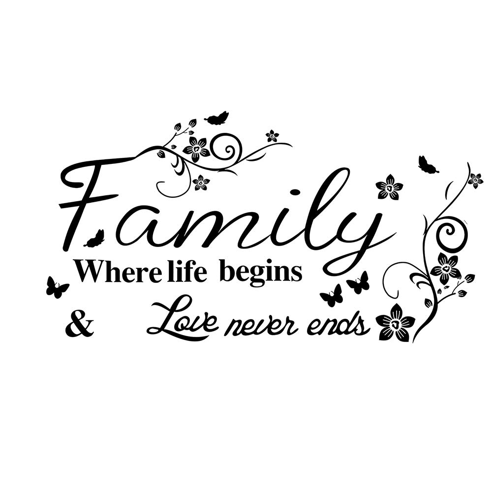 KNLWGXESC Wall Sticker, Wall Decor Stickers for Living Room / Kitchen, Wall Decals for Family, Wall Decorations, Wall Art Stickers, Mirror Wall Stickers, Wall Quote Decal Sticker Art Decor for Home