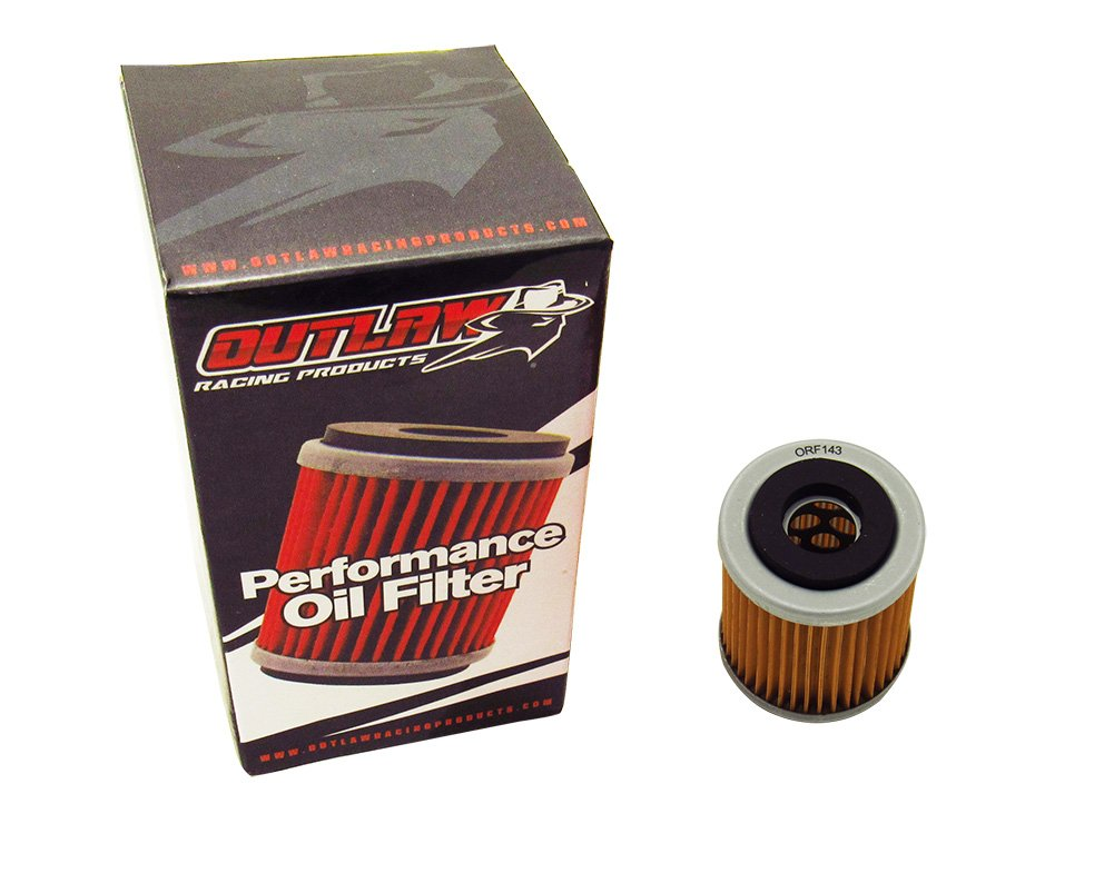 Outlaw Racing ORF143 Performance Oil Filter- Set of 2 YAMAHA YFM225 MOTO-4 TW200 Replaces KN143 Outlaw Racing Products