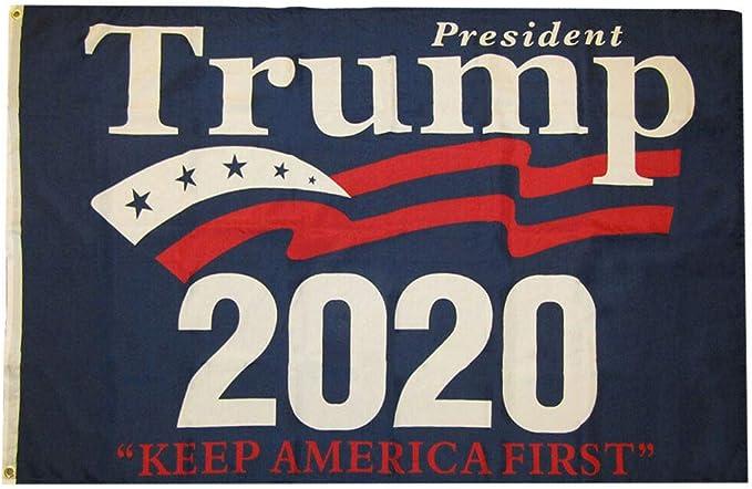 Donald Trump /'20 Blue Premium 100D Woven Poly Nylon 5x8 5/'x8/' Flag Banner