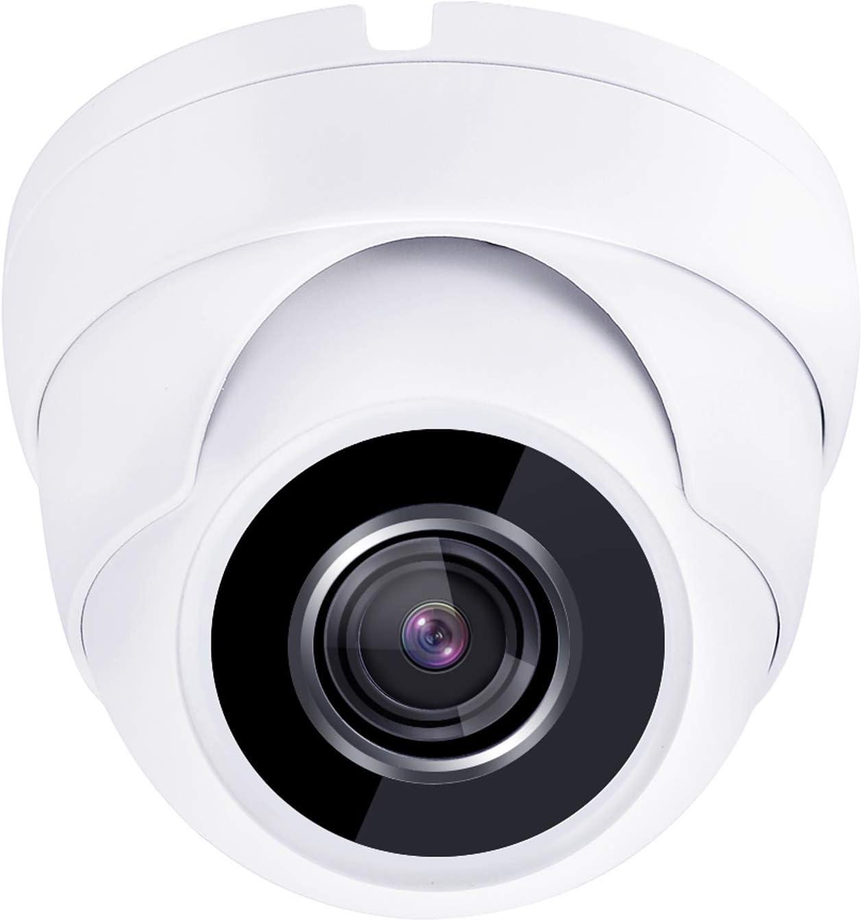 1080P HD Security Camera 3.6mm Fixed Lens Dome HD TVI CVI AHD Analog CVBS Black