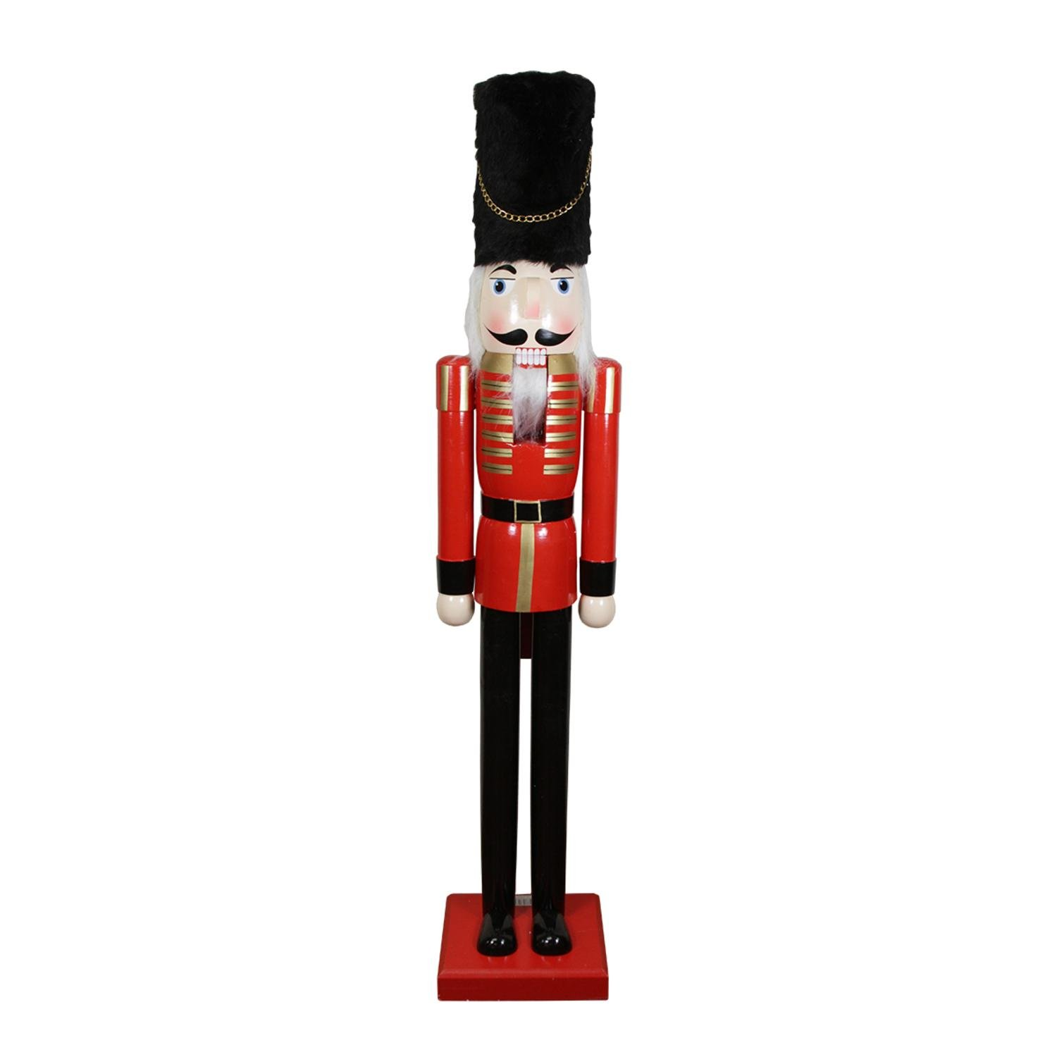 60'' Decorative Commerical Size Red Solider Wooden Christmas Nutcracker