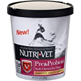 Nutri-Vet Pre and Probiotic Soft Chews for Dogs | Digestive Health Support Dog Probiotics | Tasty Alternative to Dog…
