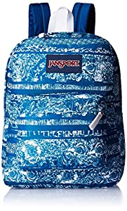 JanSport Superbreak Backpack- Discontinued Colors (Midnight Sky Floral Stripe)