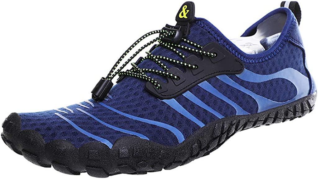 Bravetoshop Womens Mens Water Shoes Barefoot Quick-Dry Five Toes Sports Pool Beach Shoes