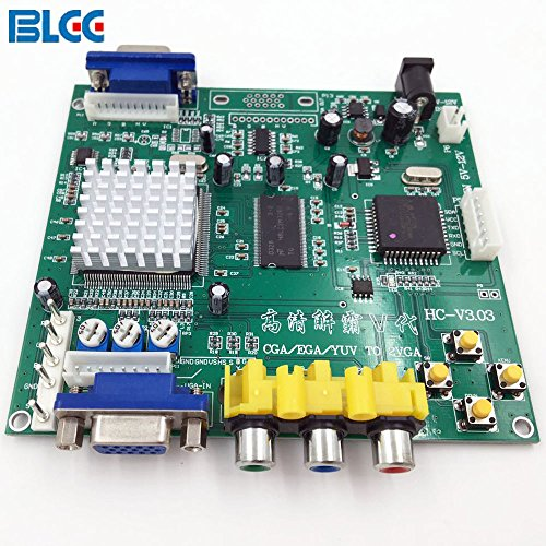 BLEE Arcade Game RGB CGA EGA YUV to VGA HD Video Converter Board 1 VGA Single Output for CRT LCD PDP Monitor ()