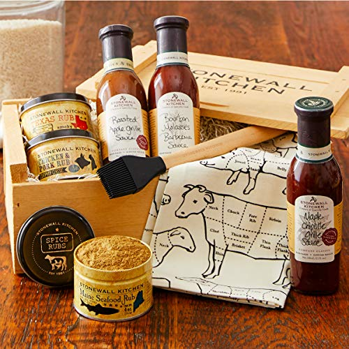 Stonewall Kitchen Grilling Favorites Gift Crate - 8 Piece Gift (Bbq Grill Gift Baskets)