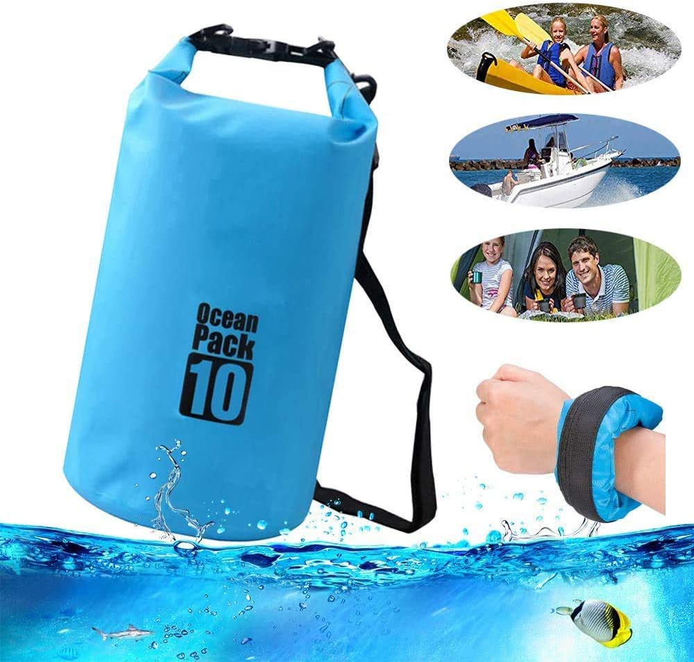 ONG NAMO Waterproof Dry Bag, Water Resistant Lightweight Backpack with Handle Compatible with Kayaking Beach Rafting Boating Hiking Camping and Fishing (10L)