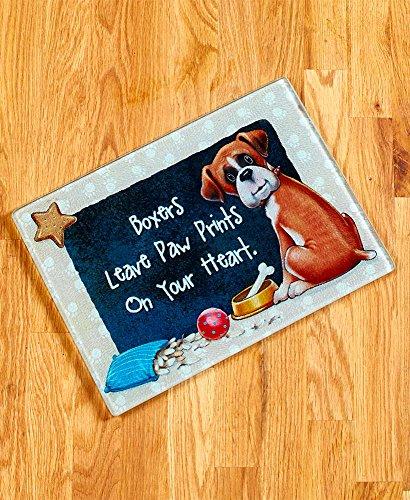 Illustrated Dog Breed Cutting Board - Boxer (Boxer Board Cutting)