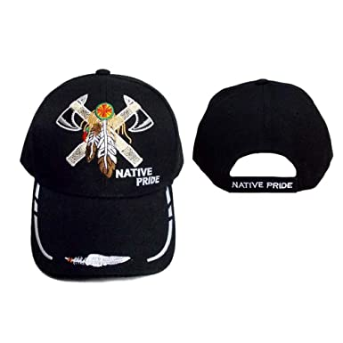 Amazon.com  2 Axes   Ceather Native Pride Embroidered Baseball Caps ... abdafe12d78