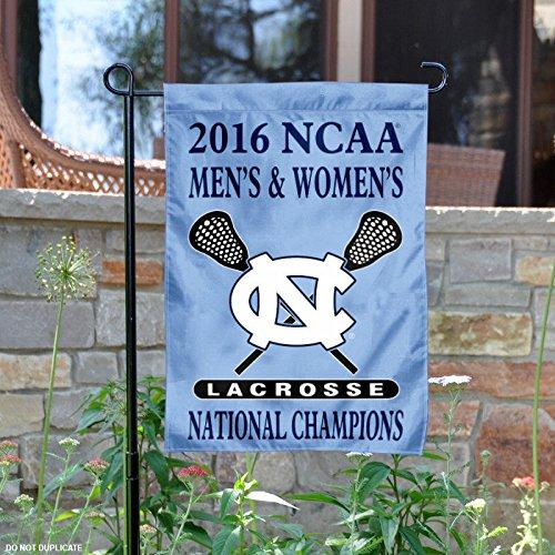 North Carolina Tar Heels 2016 Men's and Women's Lacrosse Champs Garden Flag