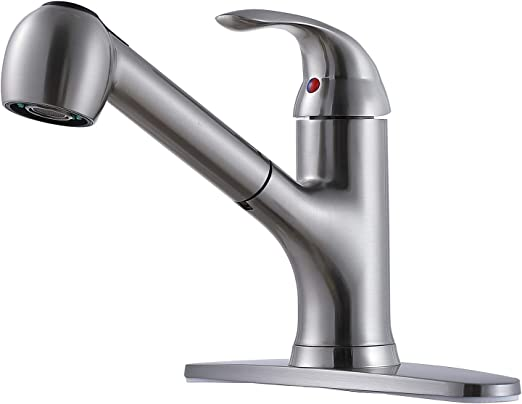 RV Kitchen Sink Faucet Pull Out Sprayer Lever Handle Rubbed Bronze Finish New