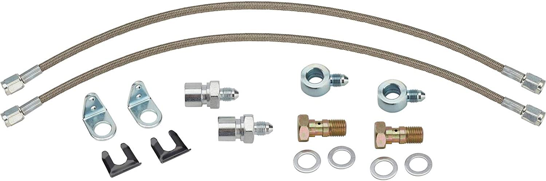 Silver Hose /& Stainless Purple Banjos Pro Braking PBF2180-SIL-PUR Front Braided Brake Line
