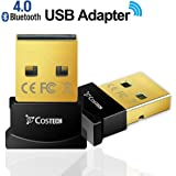 Bluetooth 4.0 USB Adapter, Costech Gold Plated Micro Dongle 33ft/10m Compatible with Windows 10,8.1/8,7,Vista, XP, 32/64 Bit for Desktop , Laptop, computers