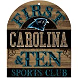 NFL Carolina Panthers Wood Sign, 10 x 11-Inch