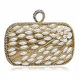Europe, ladies hand bags of high grade banquet evening bags evening bag baodan Pearl flower handbag shoulder diagonal