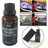ヘッドライト用カー修理疎水性酸化液、30ml 9Hスーパー修復液、タオルスポンジ付きポリッシュキット(1pc)