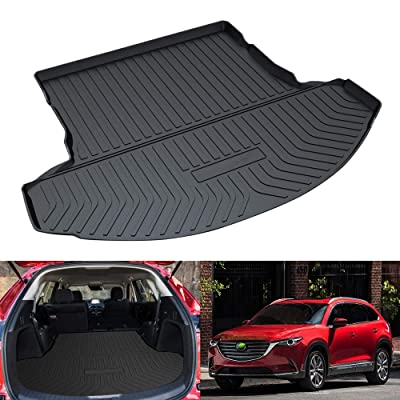 Mixsuper Cargo Liner for CX9 Durable Odorless All Weather 3D Rear Behind 2nd Row Trunk Floor Mat for Mazda CX-9 2016-2021: Automotive