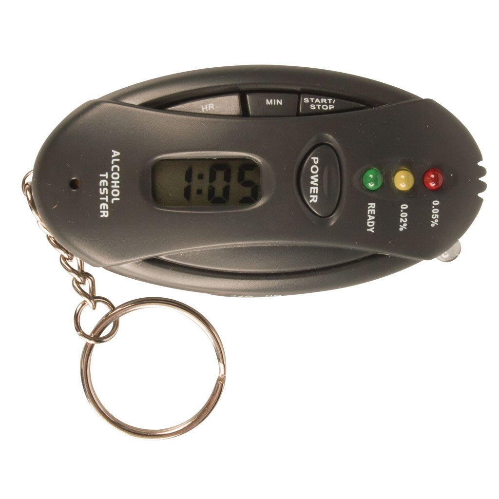 Alcohol Breath Tester 3-Step Coloured Led Indication 2 X AAA Batteries Bac Blood