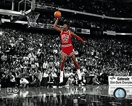 Amazon.com  Michael Jordan Chicago Bulls NBA Slam Dunk Contest Photo ... 1dedf35c14