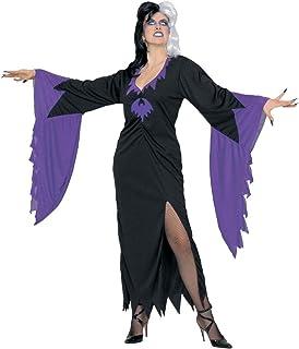 Sofias Closet Ladies Fancy Dress Halloween Morticia Bat Dress Plus Size Cruela V&ire Costume  sc 1 st  Amazon UK & Sofias Closet Bad Fairy Fancy Dress Costume Black Dark Angel ...