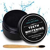 Activated Charcoal Teeth Whitening Powder Natural Coconut Teeth Whitener 1.05oz with Bamboo Brush by Nimiah