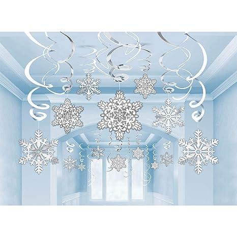 Amazon.com: 30 piezas de copos de nieve para colgar ...