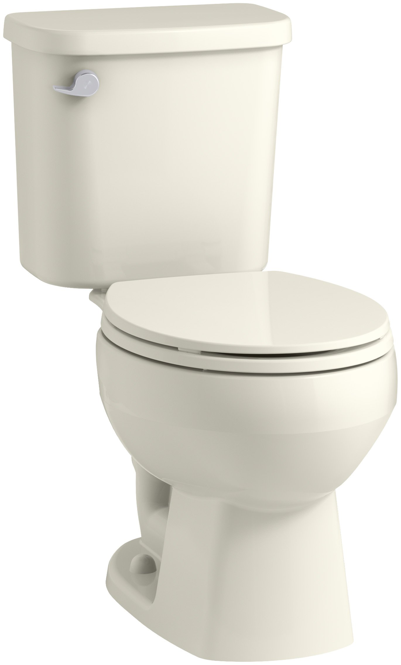 Sterling 403080-96 Windham 12-Inch Rough-In Round Front Toilet with Pro Force Technology and Left-Hand Trip Lever, Biscuit