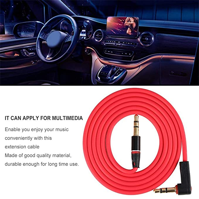 TAOHOU 3.5mm 3 Pole Coaxial Male to Male Record Car Aux Audio Cord ...