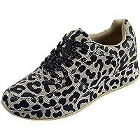 Zapatillas de Deportivos de Running para Mujer Moda con Estampado de Leopardo Zapatos Casuales Ligero Comodos Fondo…
