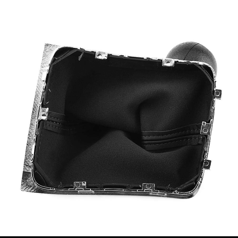 5 Gang Auto Schaltknauf Stick Getriebe Shift Gamasche Stiefelabdeckung mit Kofferraumabdeckungssatz f/ür Passat B6 2006-2010