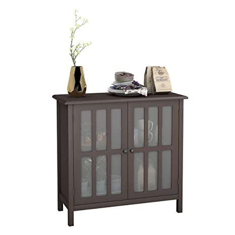 Amazon.com - Brown Modern Kitchen Sideboard Buffet Cupboard ...
