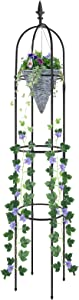 Esbaybulbs Tower Obelisk Garden Trellis 1.76m Tall Plant Support for Climbing Vines and Flowers Stands 1 Pack
