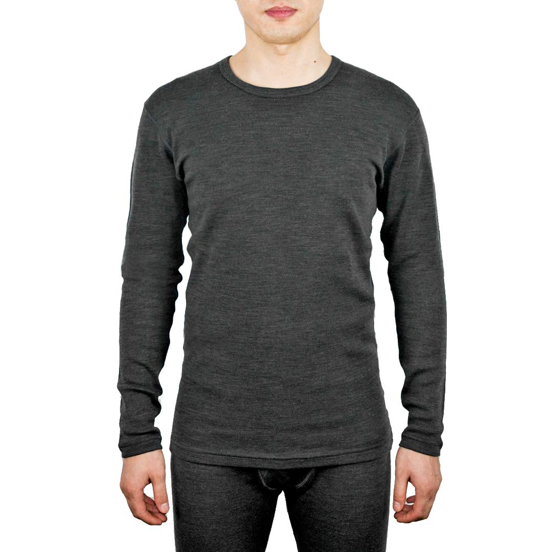 Sheep Run Merino Wool Men's Thermal Long Sleeve Crew Top