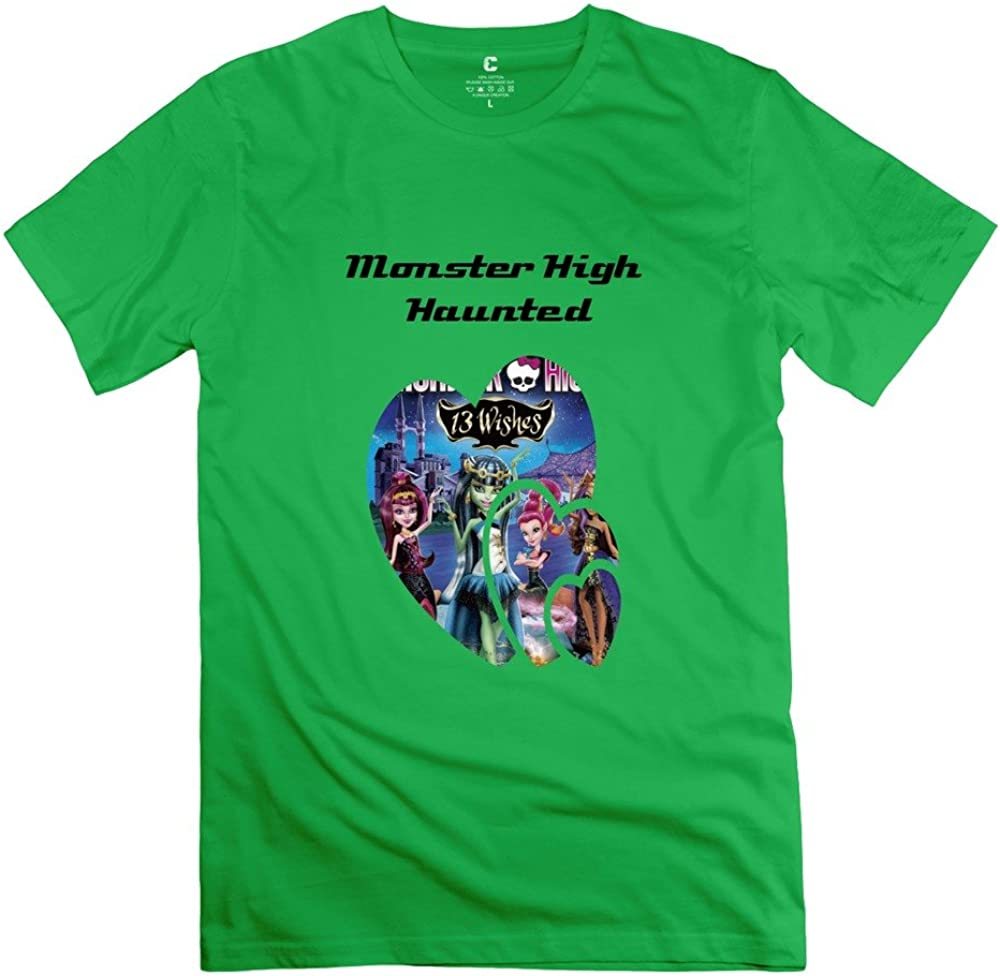 Men Monster High Haunted Custom O Neck Natural T-Shirts by Mjensen
