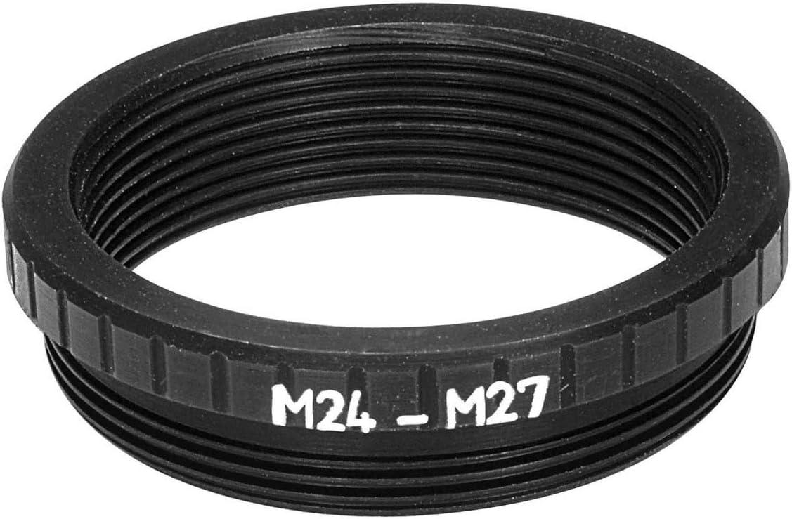 M27x0.75 Male to M24x0.75 Female Thread Adapter Black