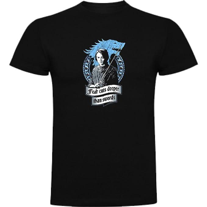 The Fan Tee Camiseta de Juego de Tronos Stark Daenerys Lanister Arya Jon nieve lobo niñas 3-4Años Negro: Amazon.es: Ropa y accesorios