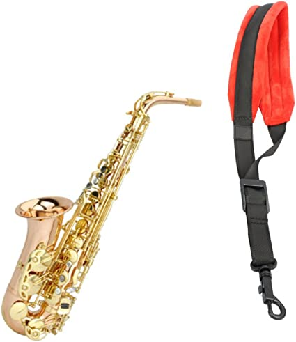 Saxophones Strap With Metal Hook Saxophone Accessories Adjustable Neck Belt Padded for Saxophones Horns Bass Clarinets,Oboes and More
