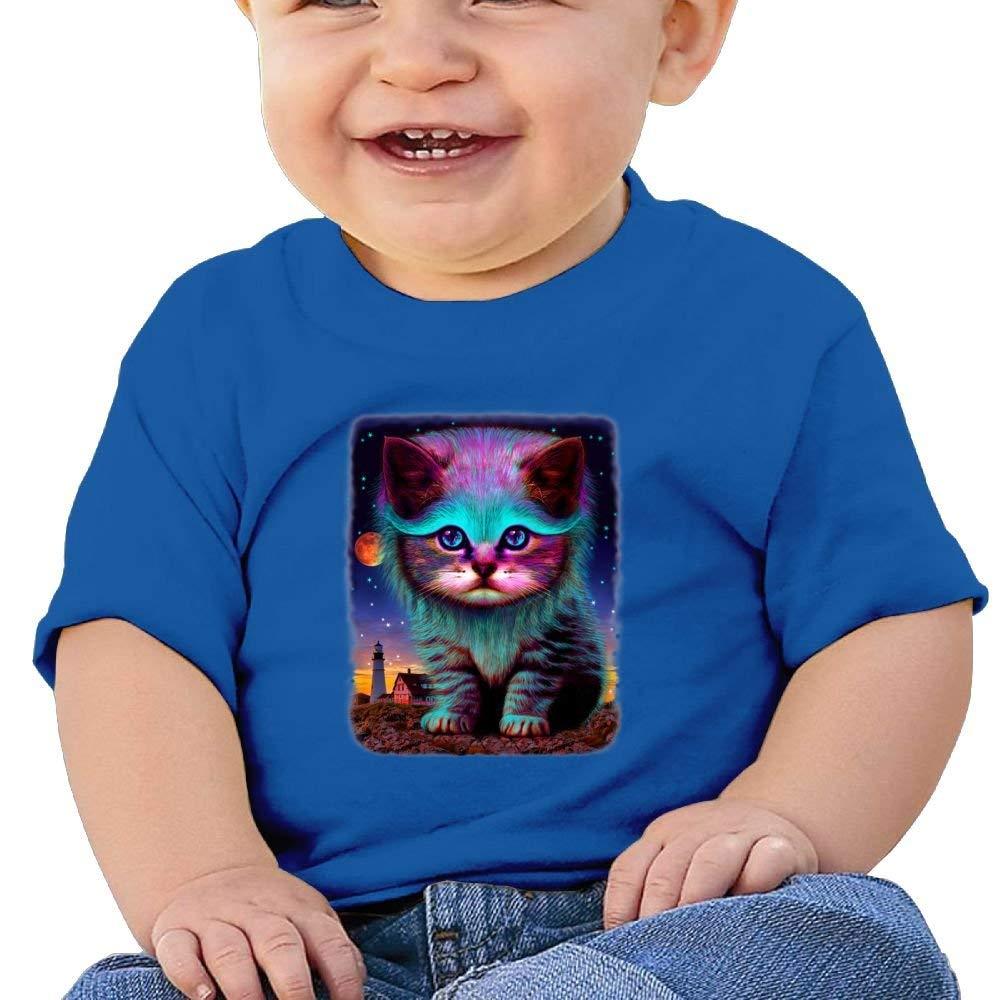YXQMY Waiting for My Fish Washed Cotton Baby Boy Shirt Cute Summer T Shirt Funny