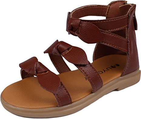 montaas Toddler Little Girls Strappy Gladiator Sandals with Bows
