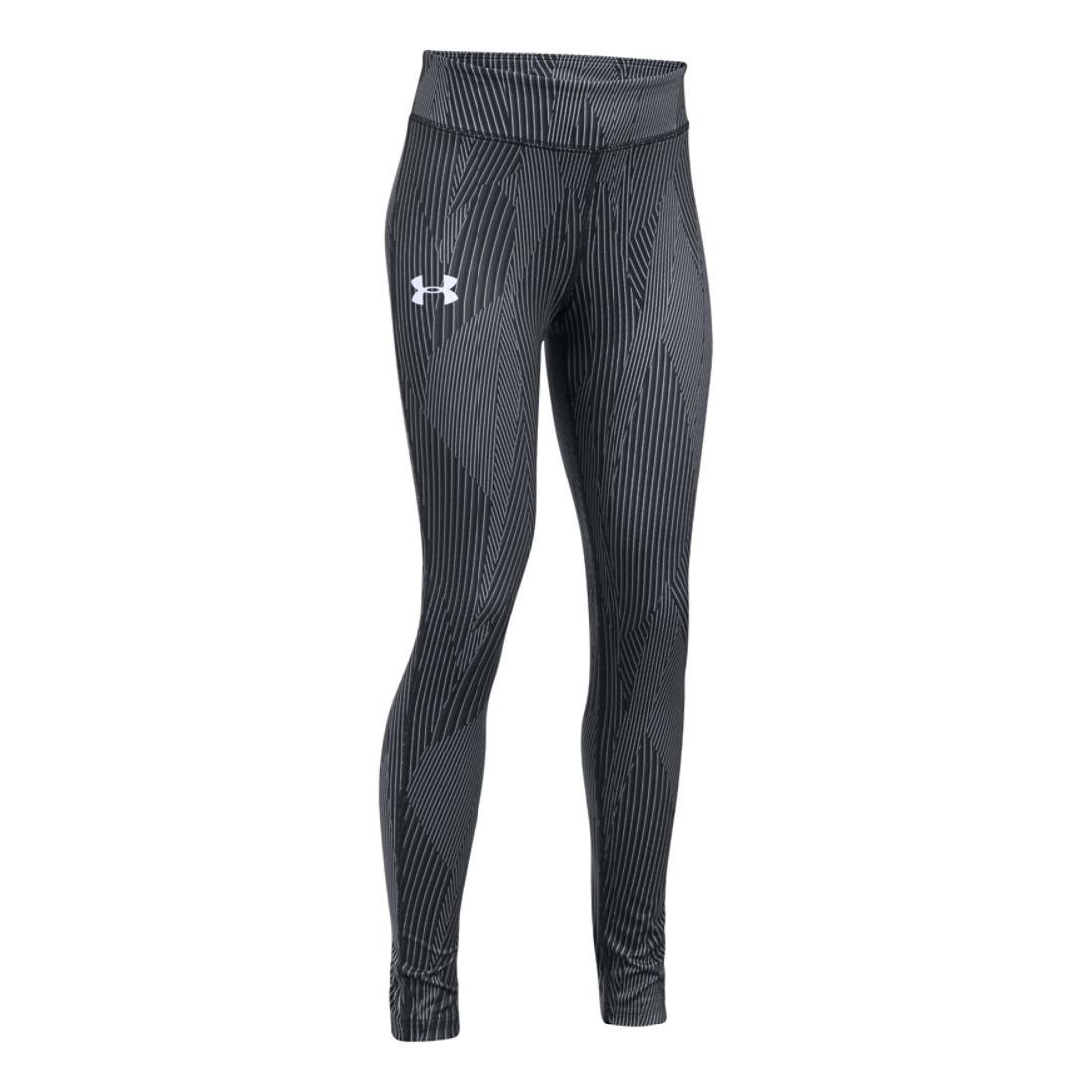Under Armour Girls HeatGear Printed Legging, Black, LG (14-16 Big Kids) x One Size