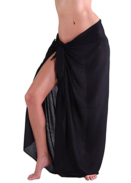53fb10d8efb5d M B USA Womens Sarong Pareo Tie Dye Cover Up Wrap Beach Swimsuit Bikini  Summer (Black