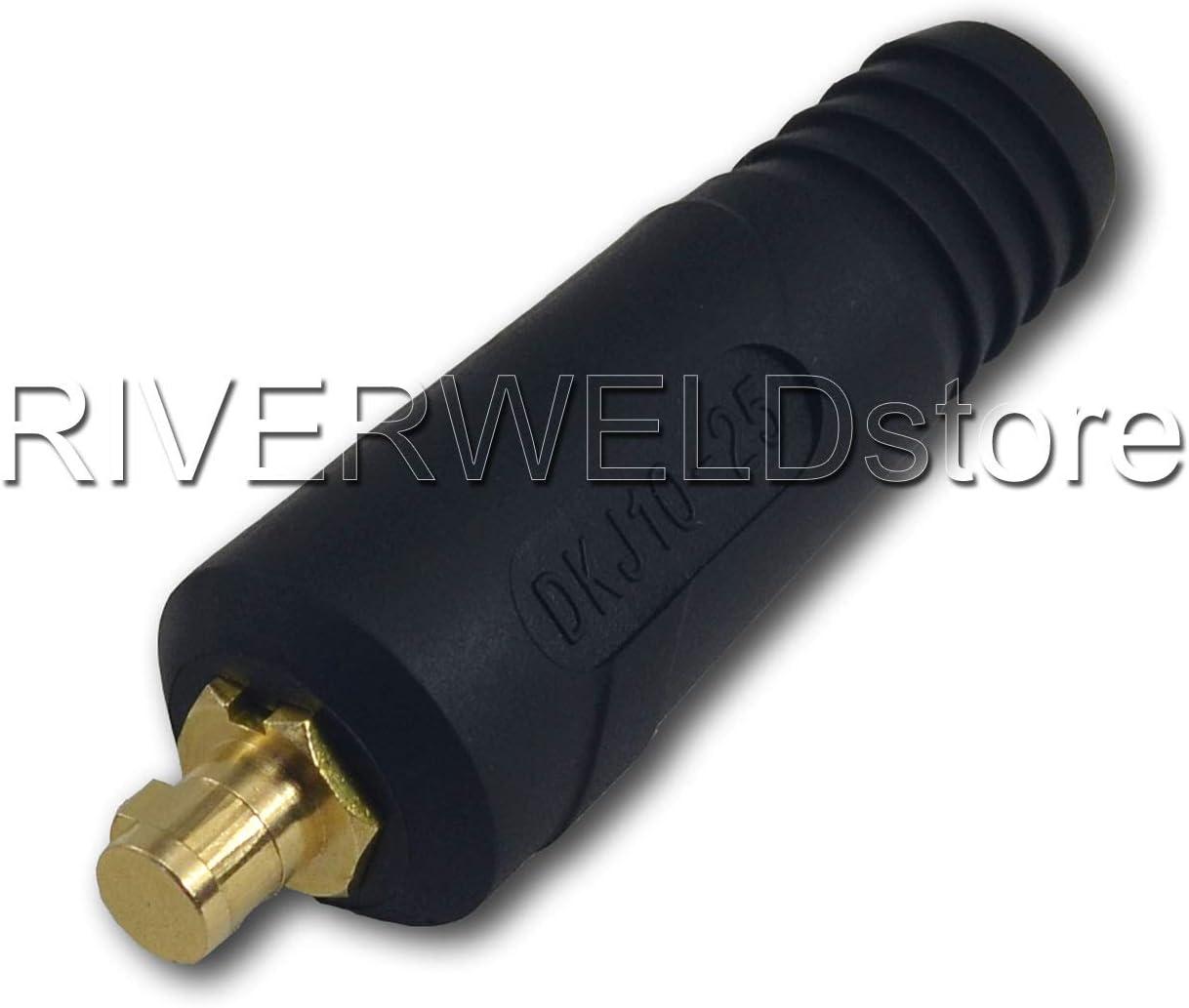 TIG DKJ10-25 DKZ10-25 /& DKZ10-25 Lot de 4 connecteurs de c/âble de soudage /à montage rapide Style dinse Noir