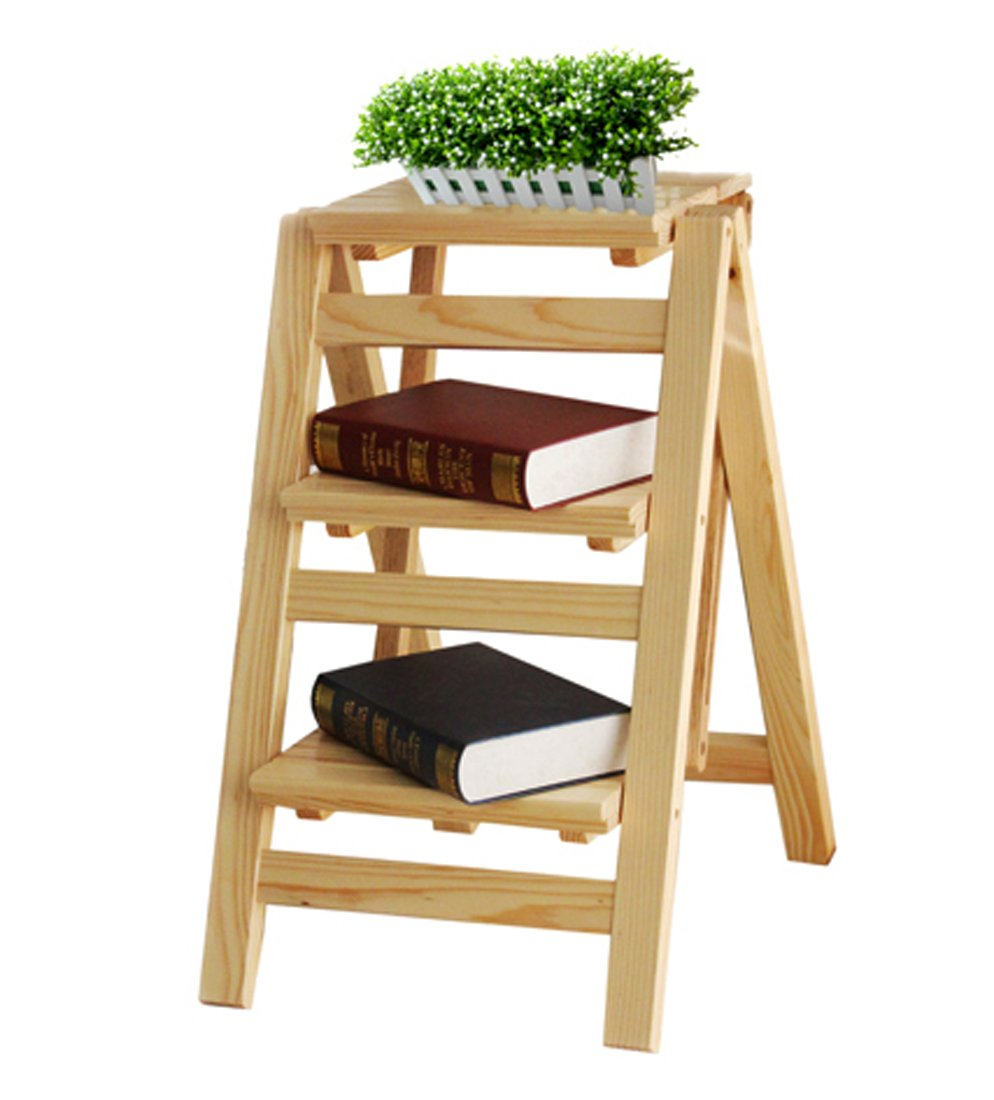 A 66cm Home Wood Multifunctional Folding Ladder Folding Wooden