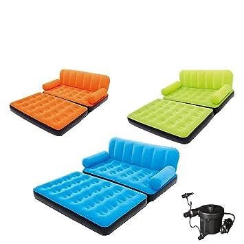 Daf Aufblasbare Sofa Doppelte Einzelsofa Bett Falten Sofa Beflockung Air  Bed Portable Outdoor Aufblasbare Matratze Rasen