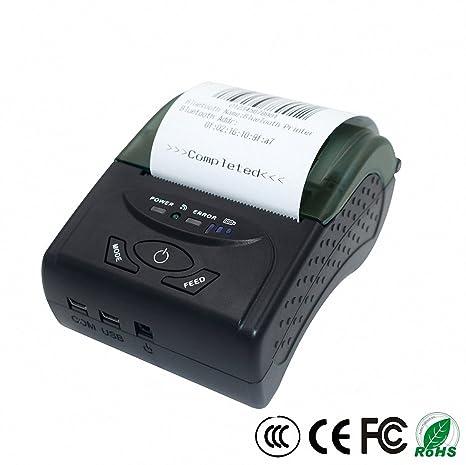 Mini Impresora Portátil De Recibo Térmica Bluetooth De 58Mm ...