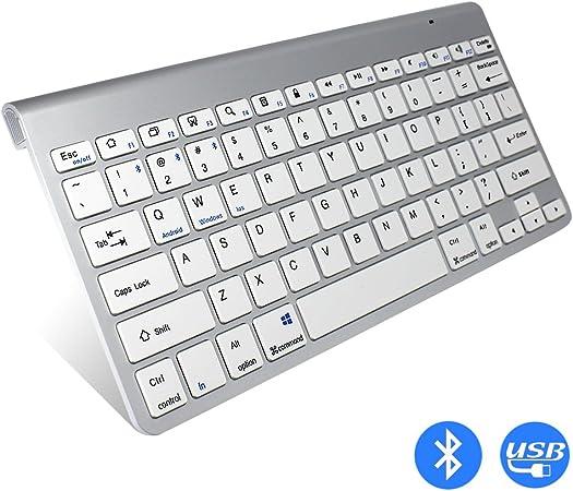tocean negocios Bluetooth inalámbrico teclado USB ultrafina ...