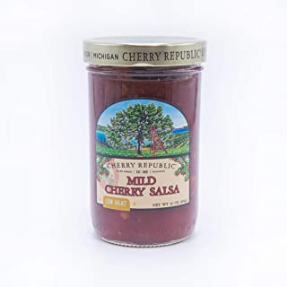 product image for Cherry Republic Mild Cherry Salsa - Chunky Sweet & Low Heat Flavor Sauce (16 Oz Jar)
