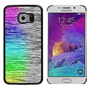 PERFECT GIFT SPGECELL/smartphone, duro Case-Carcasa de PC-/ Hard Case for Samsung Galaxy S6 EDGE, diseño de arcoíris Art cepillado y Rainbow Art Brushed