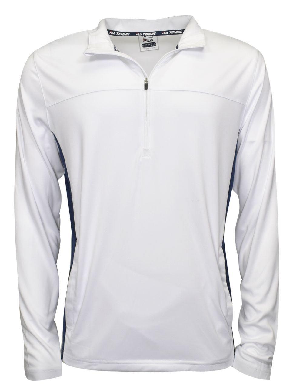 Fila Core Half Zip Jacket White/Navy Size Large